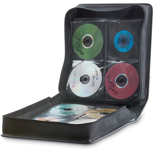 Verbatim CD/DVD Storage Wallet 256 ct. Black - Wallet - Transparent, Black - 256 CD/DVD