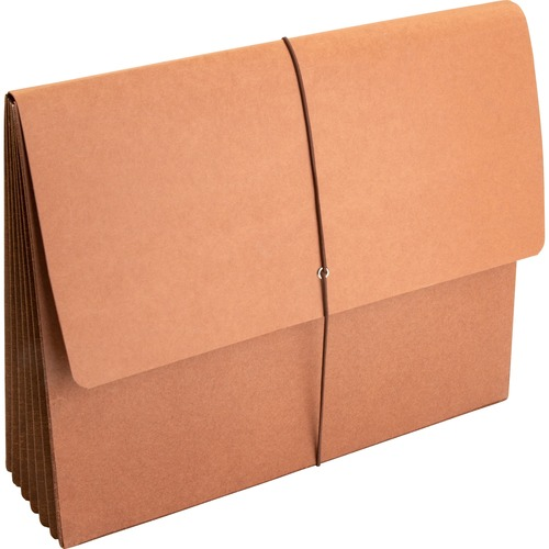 """Business Source Letter Recycled File Wallet - 8 1/2"""" x 11"""" - 5 1/4"""" Expansion - Brown - 30% Recycled - 1 Each"""