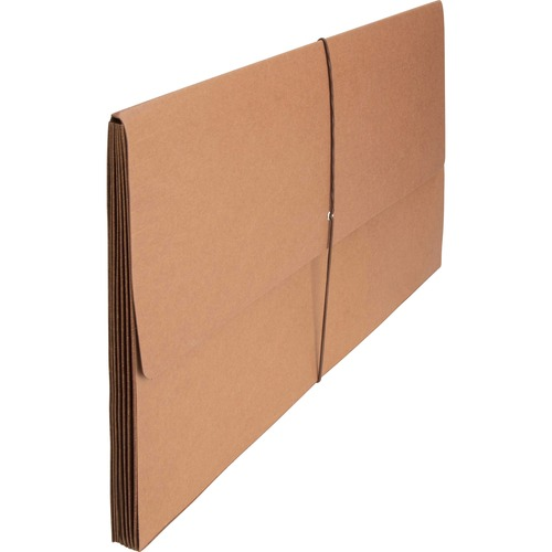 """Business Source Legal Recycled File Wallet - 8 1/2"""" x 14"""" - 5 1/4"""" Expansion - Brown - 30% Recycled - 1 Each"""
