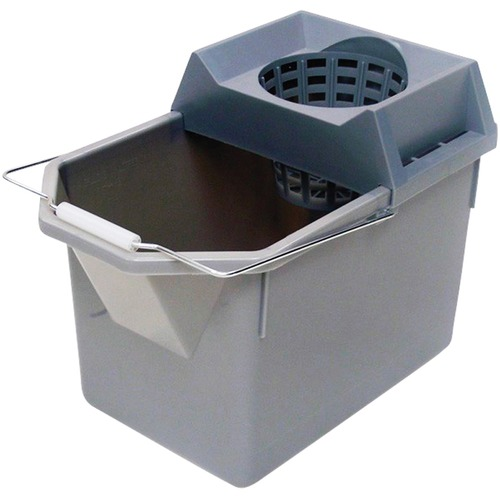 """Rubbermaid Bucket and Mop Strainer - 14.20 L - Durable - 12"""" (304.80 mm) - Plastic - Gray - 1 Each"""