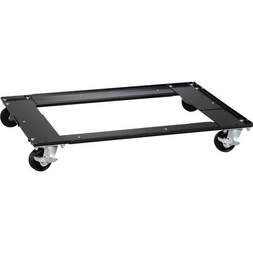 """Lorell Commercial Cabinet Dolly - Metal - x 42"""" Width x 24"""" Depth x 4"""" Height - Black - 1 Each"""