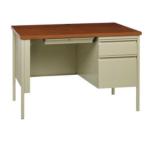 Lorell Fortress Series Oak Laminate Top Desk