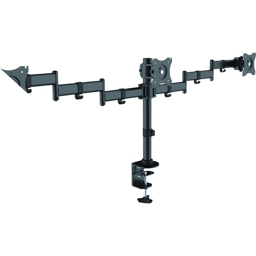 """Lorell Active Office Mounting Arm for Monitor - Black - 3 Display(s) Supported27"""" Screen Support - 1 Each"""