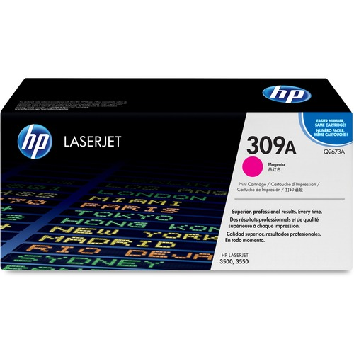 HP 309A Toner Cartridge - Magenta - Laser - High Yield - 4000 Page - 1 Each