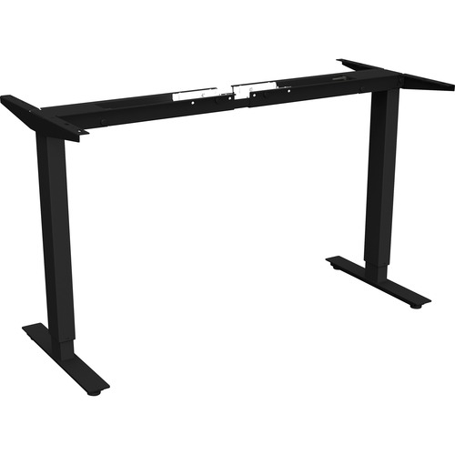 """Lorell Quadro Workstation Sit-to-Stand 2-tier Base - Black Base - 47"""" Height - Assembly Required"""