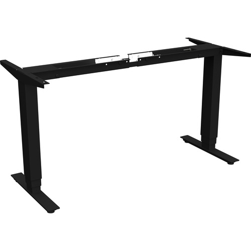 """Lorell Quadro Workstation Sit-to-Stand 3-tier Base - Black Base - 50"""" Height - Assembly Required"""