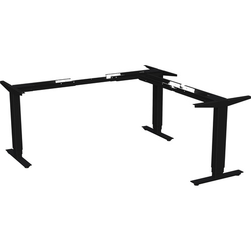 """Lorell Quadro Workstation Sit-to-Stand 3-Leg Base - Black Three Leg Base - 3 Legs - 50"""" Height - Assembly Required"""
