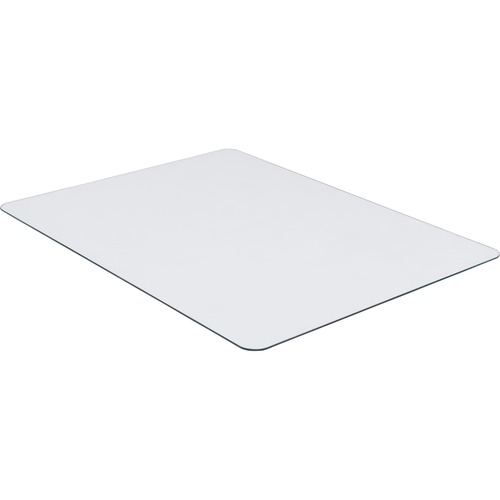"""Lorell Tempered Glass Chairmat - Floor, Pile Carpet, Hardwood Floor, Marble - 36"""" Length x 46"""" Width x 0.25"""" Thickness - Rectangle - Tempered Glass -"""