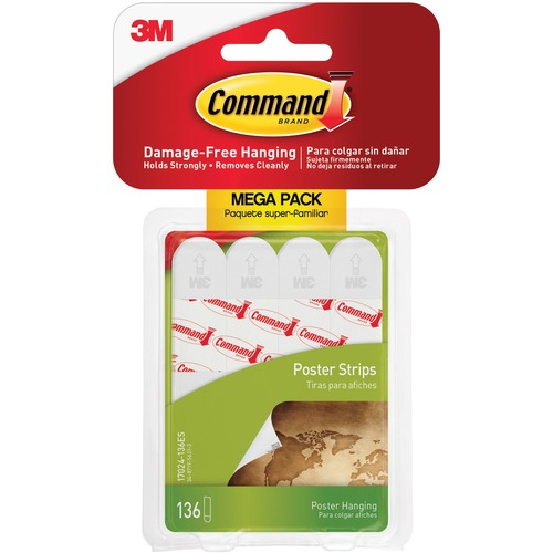 Command Poster Strips - 136 / Pack - White