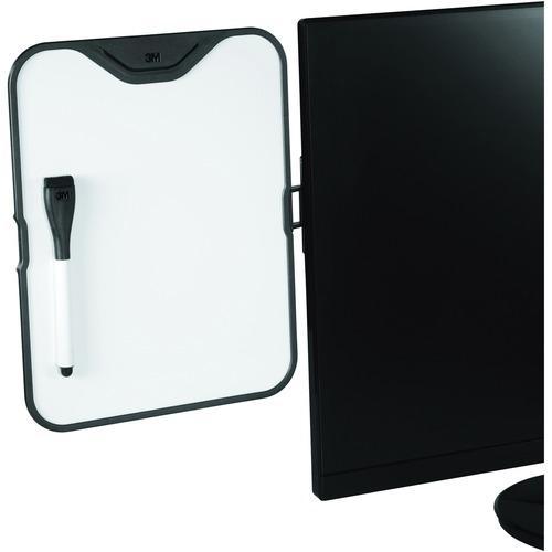 3M Monitor Whiteboard Holder - 1 Each - White
