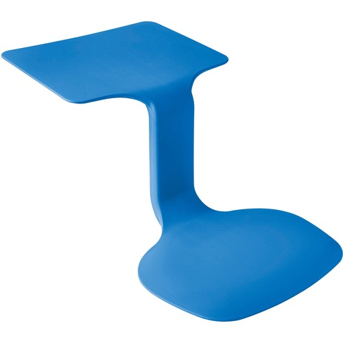 "ECR4KIDS The Surf 1-piece Seat/Desk - 11"" Height x 14.2"" Width - Blue - Polypropylene, Plastic"