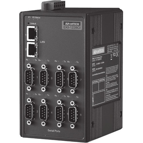 Advantech 8-port Modbus Gateway with Wide Temp. & Isolation