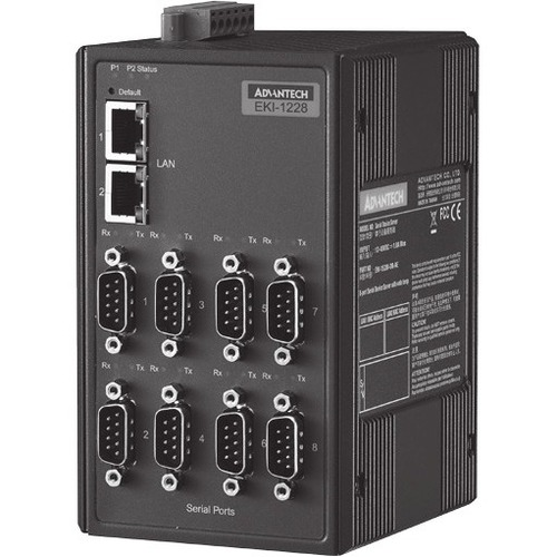 Advantech 8-port Modbus Gateway with Wide Temp