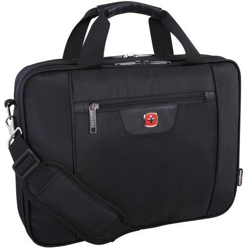 """Swissgear SWA5117 Carrying Case (Briefcase) for 15.6"""" Notebook - Black - Anti-slip - 600D Polyester - Handle, Shoulder Strap, Trolley Strap - 11.50"""" (292.10 mm) Height x 15.50"""" (393.70 mm) Width x 3"""" (76.20 mm) Depth - 1 Pack"""