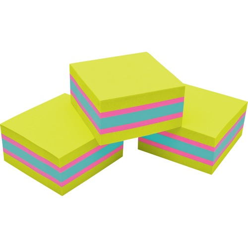 """Post-it® Super Sticky Adhesive Note - 3"""" x 3"""" - Square - 360 Sheets per Pad - Assorted - 1 / Pack"""