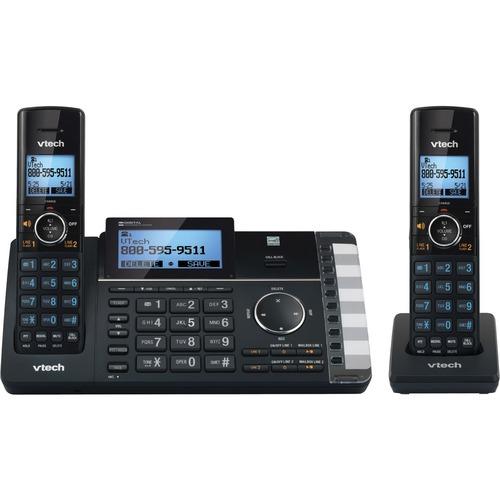 VTech DECT 6.0 Cordless Phone - Black - Cordless - 2 x Phone Line - 2 x Handset - Speakerphone - Answering Machine - Hearing Aid Compatible