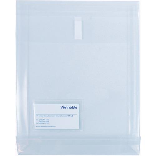 """Winnable Poly Envelope   EN-25-CR - Business Card - 9 3/4"""" Width - Velcro - 1 Each - Clear"""