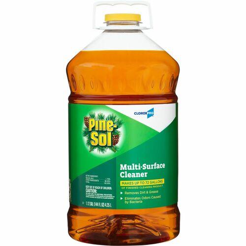 Pine-Sol Multi-Surface Cleaner - CloroxPro - Liquid - 144 fl oz (4.5 quart) - Pine Scent - 63 / Bundle - Clear