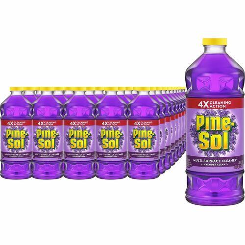 Pine-Sol All Purpose Cleaner - Concentrate Liquid - 48 fl oz (1.5 quart) - Lavender Scent - 240 / Bundle - Purple