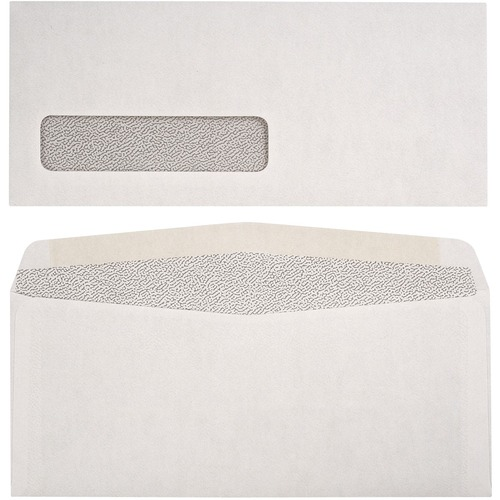 "Supremex SPX00049-Security Envelopes Window - Security - #10 - 9 1/2"" Width x 4 1/8"" Length - 24 lb - 500 / Box - White Wove"