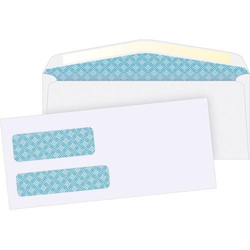 "Supremex SPX00579-Double Window Envelopes #9,3-7/8""X8-7/8"" - Double Window - #9 - 8 7/8"" Width x 3 7/8"" Length - 24 lb - 500 / Box - White Wove"