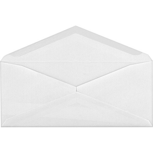 """Supremex SPX00671-V-Flap Envelope - #10 - 9 1/2"""" Width x 4 1/8"""" Length - 24 lb - Gummed - 500 / Box - White Wove"""