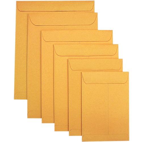 "Supremex SPX00680-Catalogue Envelopes 12"" x 15-1/2"" - Catalog - 24 lb - Gummed - Kraft - 250 / Box - Golden"
