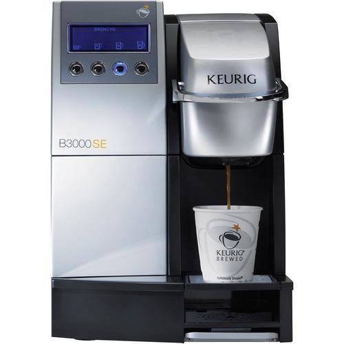 Keurig K3000SE Large Office Coffee Brewing Machine - Black, Silver