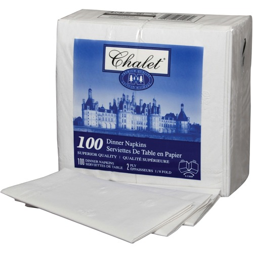 """Kruger Table Napkin - 2 Ply - 15"""" x 16"""" - White - Durable, Absorbent, Soft - For Lunch, Breakroom, Dinner, Cafeteria - 100 / Pack"""