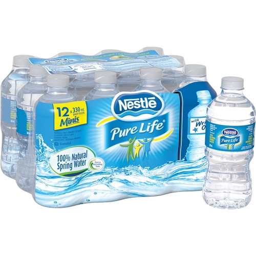 Pure Life Natural Spring Water 330 ml PET Bottles (Pack of 12) - Ready-to-Drink - 330 mL - 12 / Pack - 12 / Bottle