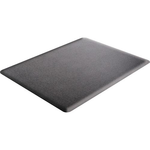 "Deflecto Ergonomic Sit-Stand Chair Mat - Hard Floor, Carpet - 48"" Length x 36"" Width x 0.38"" Thickness - Rectangle - Foam - Black"