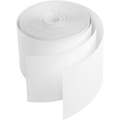 """Business Source Carbonless Paper - White - 2 1/4"""" x 90 ft - 12 / Pack - Lint-free"""