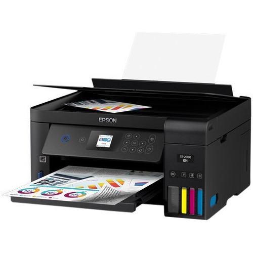 Epson WorkForce ST-2000 Inkjet Multifunction Printer - Color - Plain Paper Print - Desktop