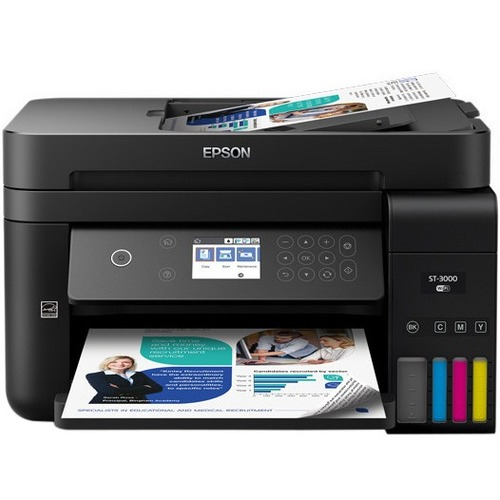 Epson WorkForce ST-3000 Inkjet Multifunction Printer - Color - Plain Paper Print - Desktop