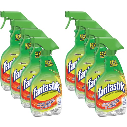 fantastik® Disinfectant Multi-Purpose Cleaner - Ready-To-Use Spray - 32 fl oz (1 quart) - Fresh Scent - 8 / Carton - Clear