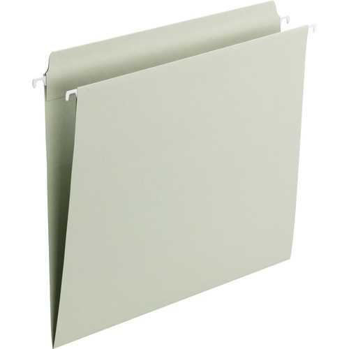 """Smead FasTab Hanging File Folders - Letter - 8 1/2"""" x 11"""" Sheet Size - Straight Tab Cut - Assorted Position Tab Position - 11 pt. Folder Thickness - S"""