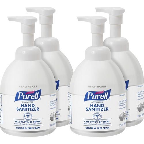 PURELL® Sanitizing Foam - 18.1 fl oz (535 mL) - Pump Bottle Dispenser - Kill Germs - Hand, Skin - Clear - Non-aerosol, Anti-septic - 4 / Carton