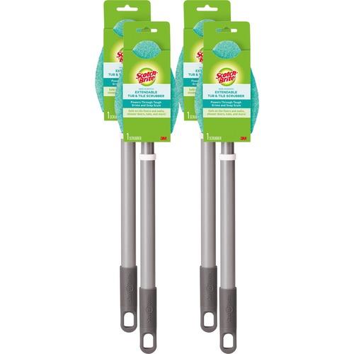"3M Bath Scrubber - 24"" Handle Length - Plastic Handle - 4 / Carton"