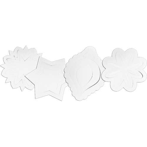 """Roylco 3D Ornaments - Holiday, Season Theme/Subject - Hanging From Predrilled Hole - Die-cut - 8"""" (203.2 mm) Width x 8"""" (203.2 mm) Length - Card Stock - 30 / Pack"""