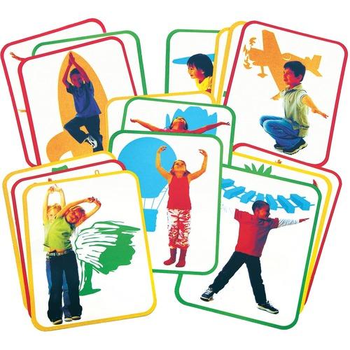 Roylco Yoga Card - Theme/Subject: Learning - Skill Learning: Illustration - 4+ - 16 / Set