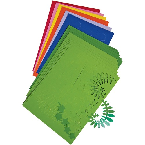 Roylco Botanical Cuts - Collage, Decoration - Recommended For 4 Year - Leaf and Flower Shapes - Card Stock