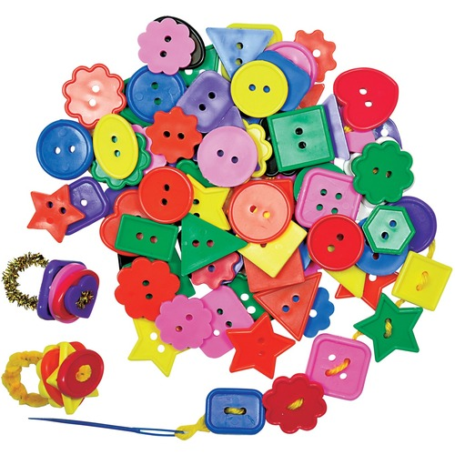 Roylco Bright Buttons 1 lb - Collage, Crafting, Fun and Learning - Recommended For 4 Year