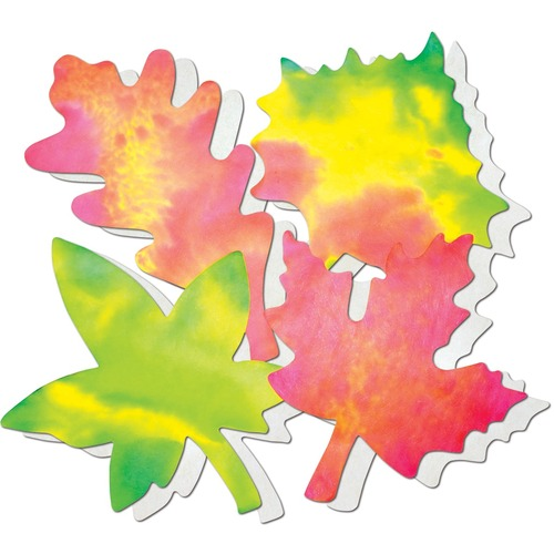 """Roylco Colour Diffusing Leaves - Learning Theme/Subject - 7"""" (177.8 mm) Width x 9"""" (228.6 mm) Length - 80 / Pack"""