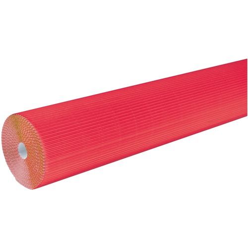 """Corobuff Roll - Bulletin Board, Table Skirting, Decoration, Project, Craft, Painting, Glue - 48"""" (1219.20 mm)Width x 25 ft (7620 mm)Length - Guideline Pattern - 1 Roll - Flame"""