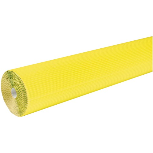 """Corobuff Roll - Bulletin Board, Table Skirting, Decoration, Project, Craft, Painting, Glue - 48"""" (1219.20 mm)Width x 25 ft (7620 mm)Length - Guideline Pattern - 1 Roll - Canary"""