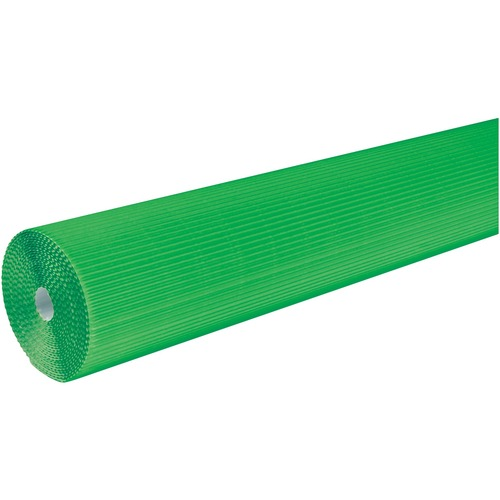 """Corobuff Roll - Bulletin Board, Table Skirting, Decoration, Project, Craft, Painting, Glue - 48"""" (1219.20 mm)Width x 25 ft (7620 mm)Length - Guideline Pattern - 1 Roll - Apple Green"""