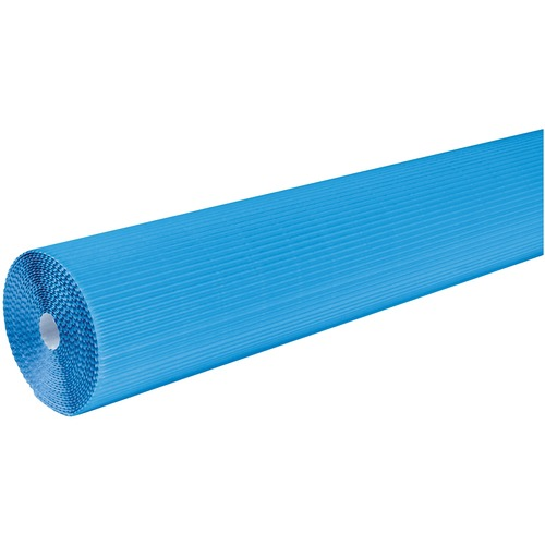 """Corobuff Roll - Bulletin Board, Table Skirting, Decoration, Project, Craft, Painting, Glue - 48"""" (1219.20 mm)Width x 25 ft (7620 mm)Length - Guideline Pattern - 1 Roll - Brite Blue"""
