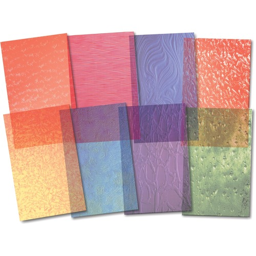 """Roylco Frosted Glass Paper - Education - 5.50"""" (139.70 mm)Width x 8.50"""" (215.90 mm)Length - Patterns - 24 / Pack"""