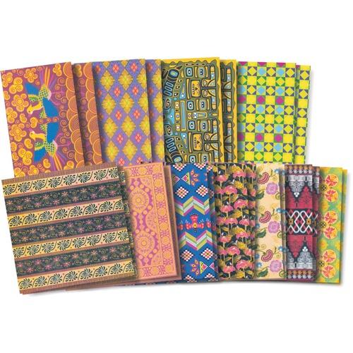 "Roylco Global Village Craft Papers - Craft, Art - 8"" (203.20 mm)Width x 8"" (203.20 mm)Length - Designs - 48 / Pack"