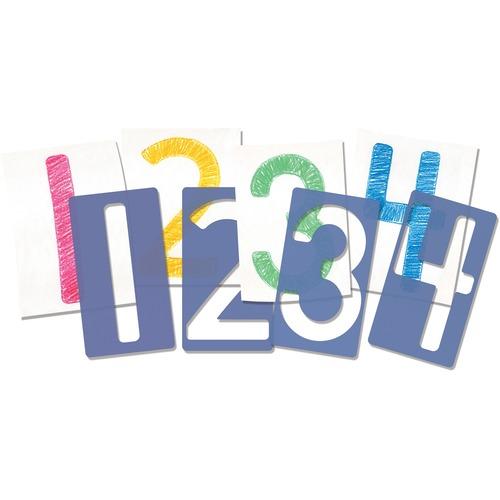 "Roylco Number Stencils - Number - 9.06"" (230 mm)5.12"" (130 mm)"